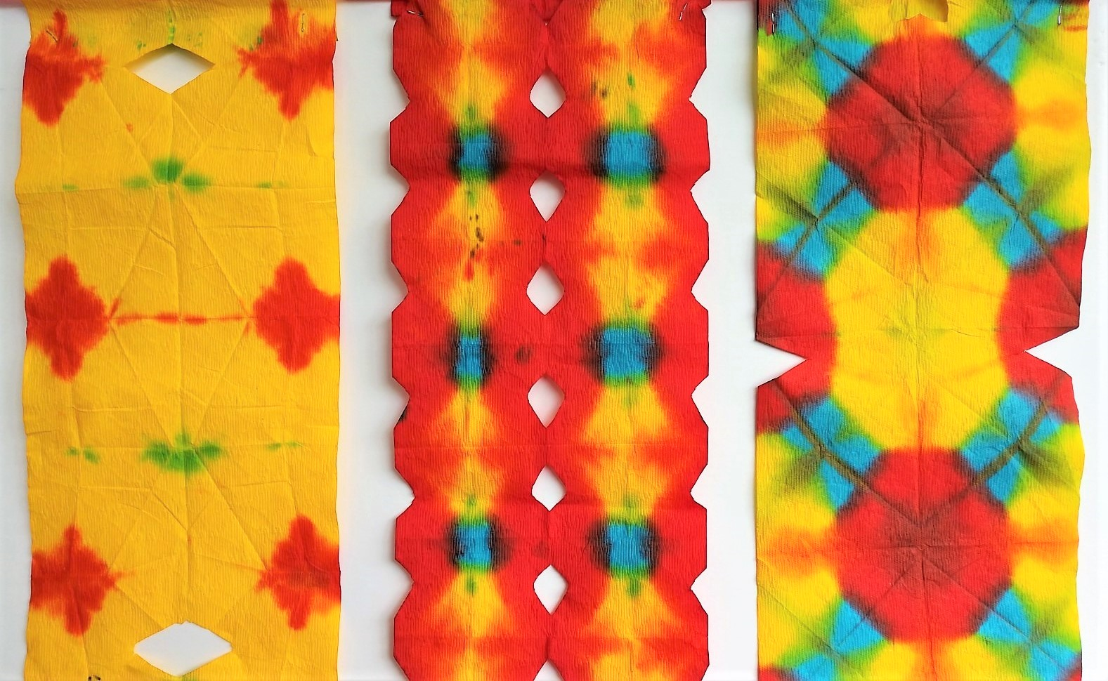 Shibori Banners by residents of Providence Ojai